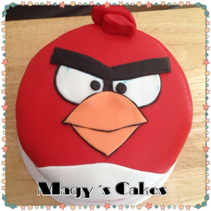 Angry Bird Cake made by with ....vanilla cake with vanilla buttercream
