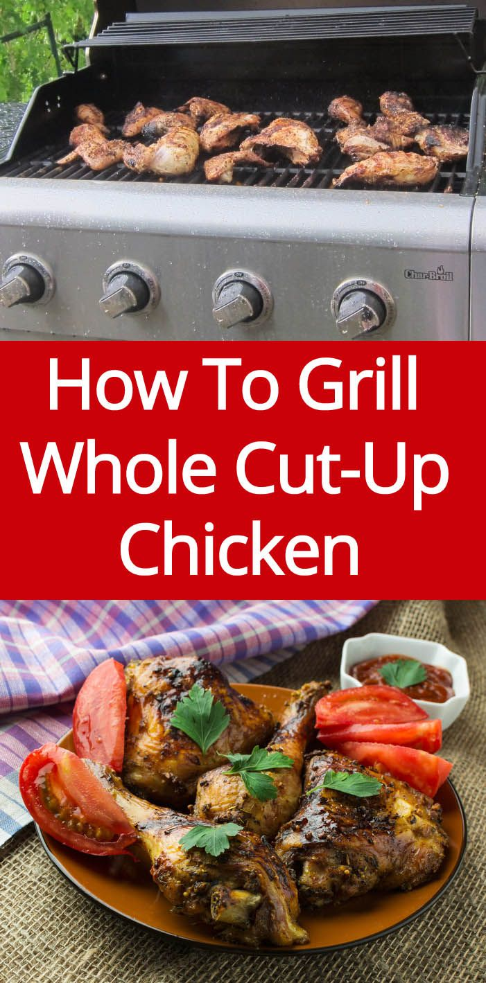 How To Grill Whole Cut-Up Chicken - easy grilled chicken recipe | MelanieCooks.com