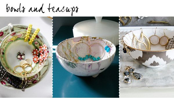 This is one of my favorite DIY ......antique tea cups as jewelry displays