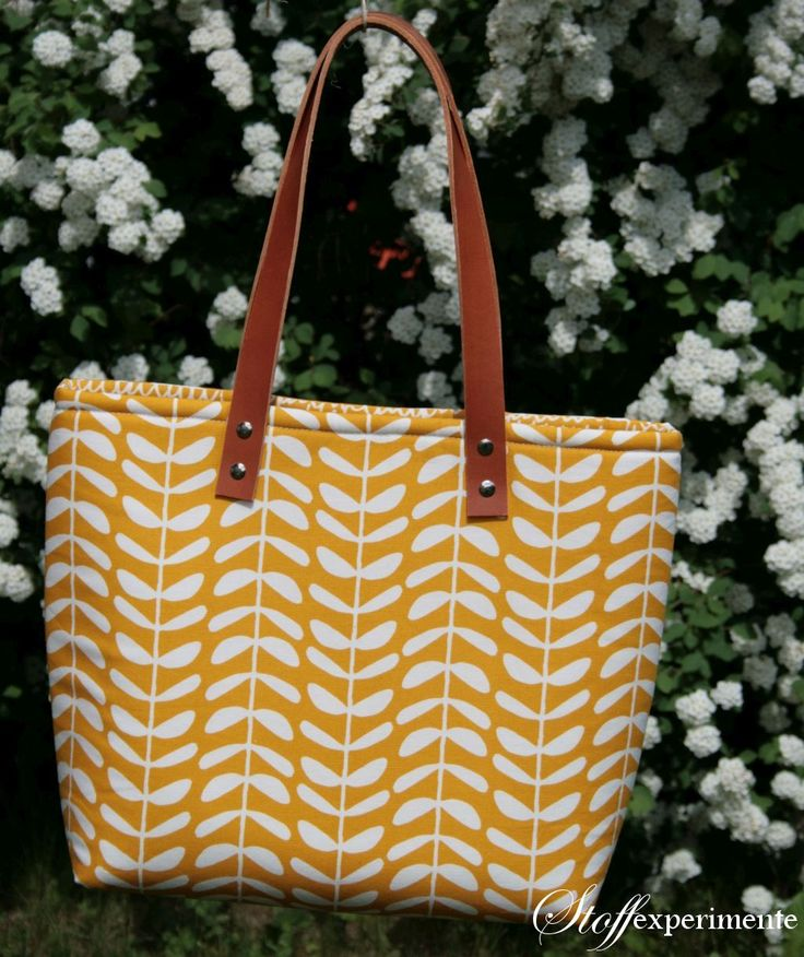 Tutorial: Tasche mit Lederhenkeln