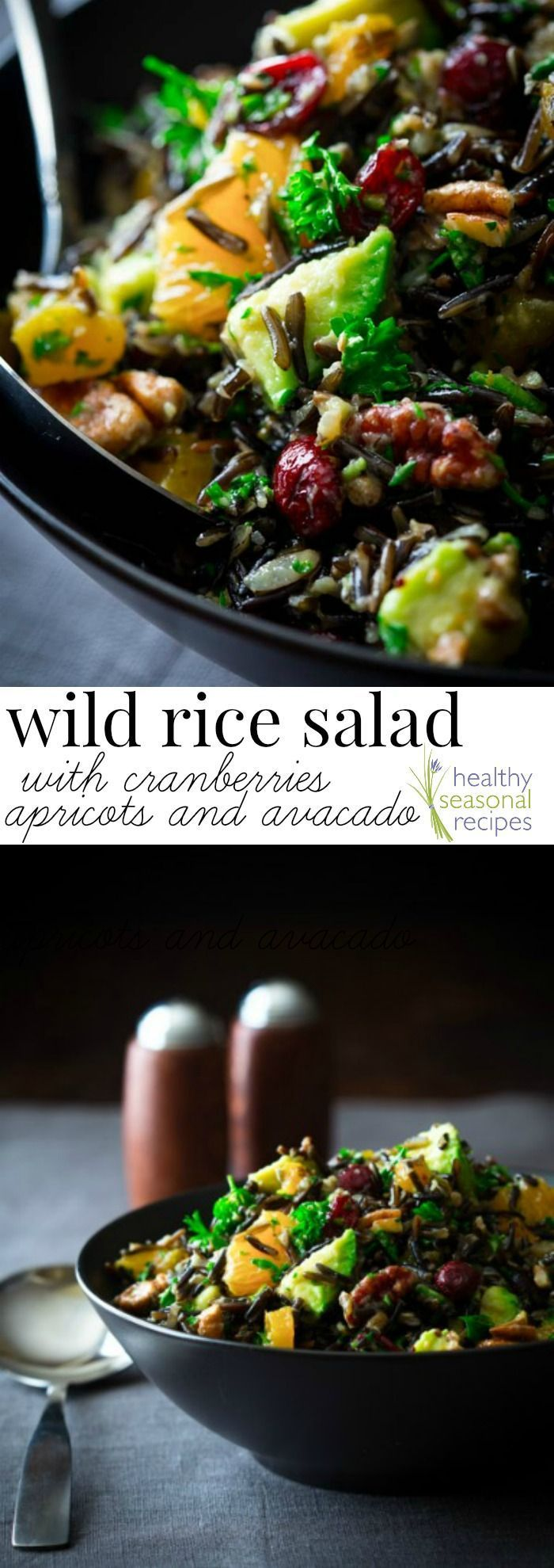 Blog post at Healthy Seasonal Recipes : Wild rice salad recipe with tangerines, dried cranberries, apricots and avocado, inspired by the Silver Palate's Nutted Wild Rice with pecan[..]