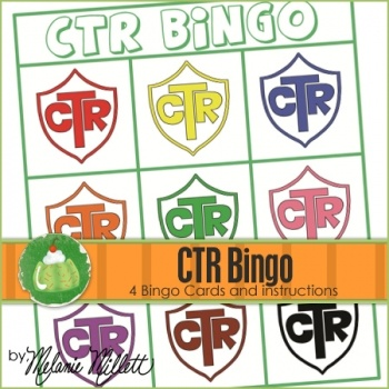 Free! CTR Bingo- This would be great for Primary classes or Sharing Times and FHE.