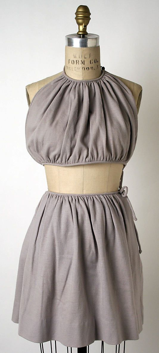 Two-piece bathing suit, c. 1946, Claire McCardell. Metropolitan Museum of Art