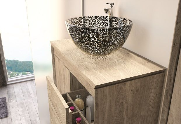 Collin Arredo - Salle de bain - Vasque Batam - en verre sécurit