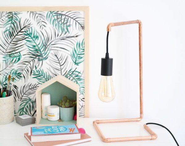 DIY Lampe en cuivre et bon plan ampoules gratuites !