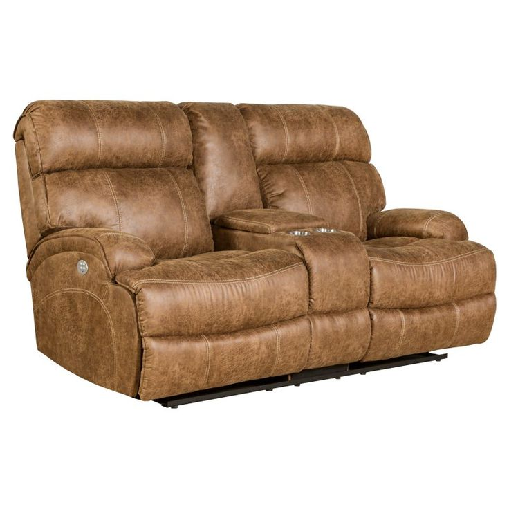 Barcalounger Barclay Power Reclining Loveseat Console with Power Head Rests - 24PH3025602486
