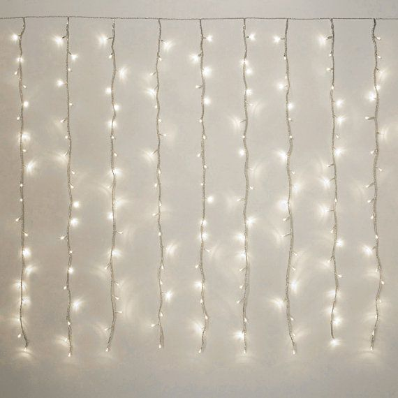 LED Curtain Fairy Lights Multi Function 198-LED White by PartySpin