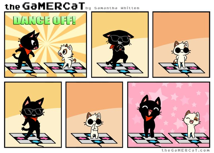 the GaMERCaT - DANCE OFF by *celesse on deviantART