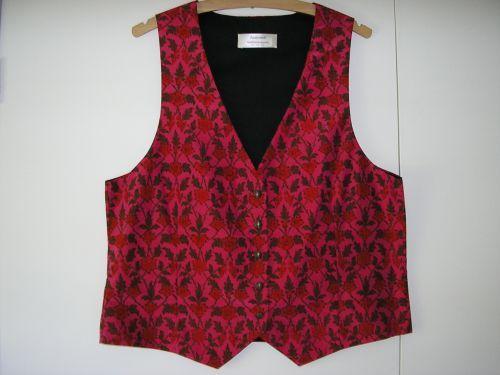 """Ladies Cerise Silk Waistcoat 34"""" - 36"""""""