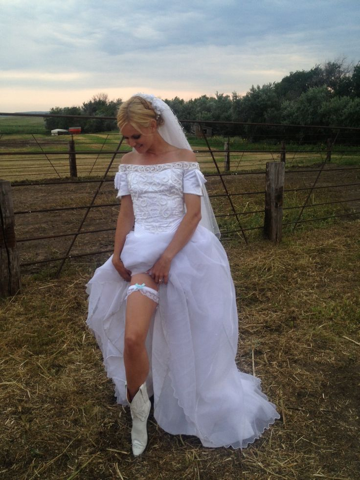 Garter And White Cowboy Boots