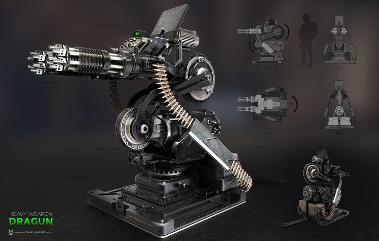 ArtStation - Dragun Weapon, Michael Kasper