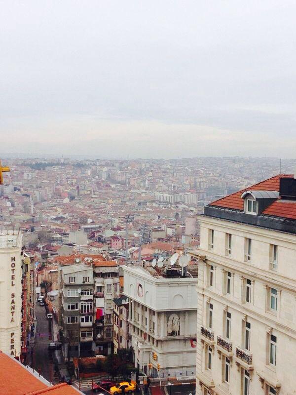 Hotel view. Beyoglu, Istanbul, Turkey