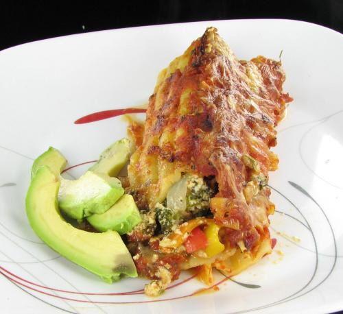 Vegetable Manicotti - Healthy Italian Main Course Recipe -