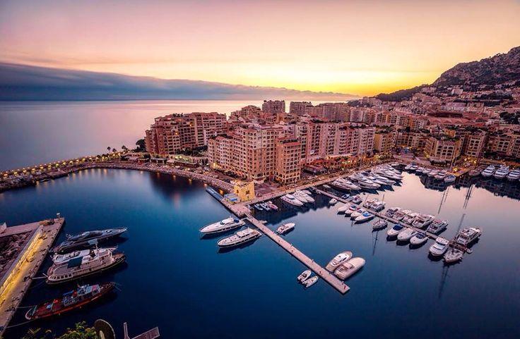 Il tramonto di Monte Carlo.