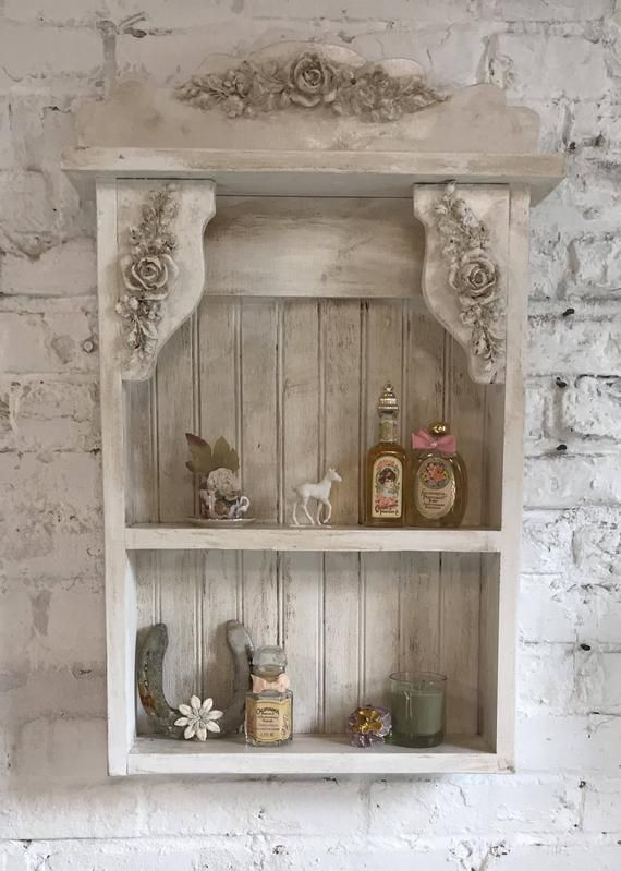 Painted Cottage Prairie Chic Hand Made Shabby Chic Shelf Shabby