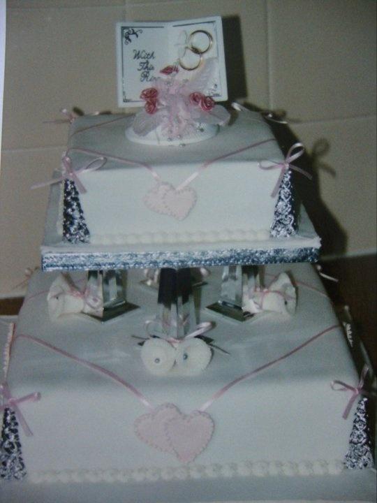 Wedding Cake I made for my Niece