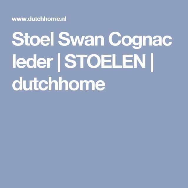 Stoel Swan Cognac leder   STOELEN   dutchhome