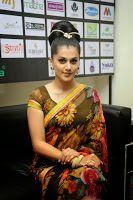 Tapsee Gorgeous Photos in Saree, Cute Actress Taapsee Pannu in designer saree at Shilpa Kala Fashion show, Tapsee ramp walk in saree stills, Tapsee new stills gallery