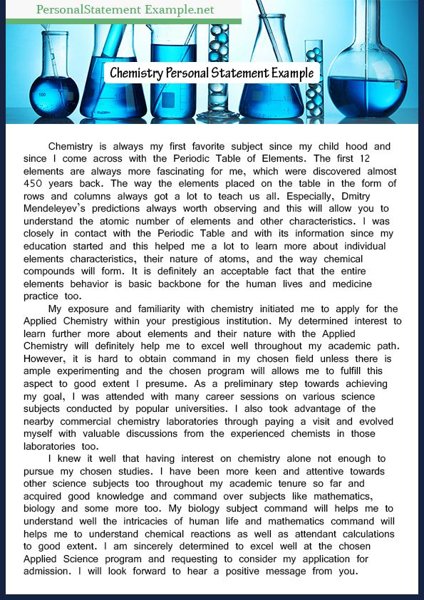 Good Sample Of Chemisrty Personal Statement Example Grad School Chemistry Tips Tip