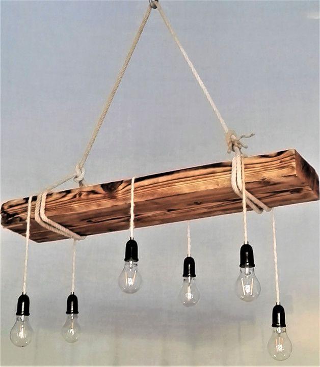 **Lampe aus massiver Altholz Balken !!!** Machen S…