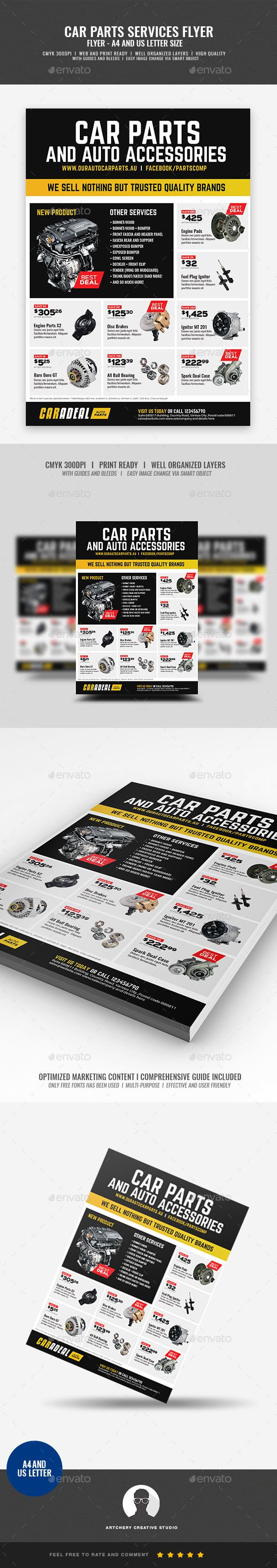 Auto Car Spare Parts Flyer #car system #car engine  • Download here → https://graphicriver.net/item/auto-car-spare-parts-flyer/21231887?ref=pxcr