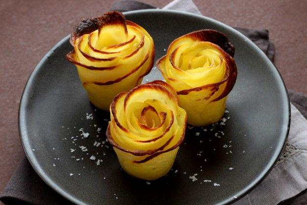 """Diaporama """"Comment faire des roses de pommes de terre ?"""" - Servez"""