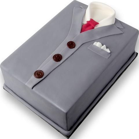 Note: Cake not included Make a stylish cake for all occasions for men and boys with this formal shirt with necktie. This edible ready-made by hand cake topper offers a way of decorating a cake hassle