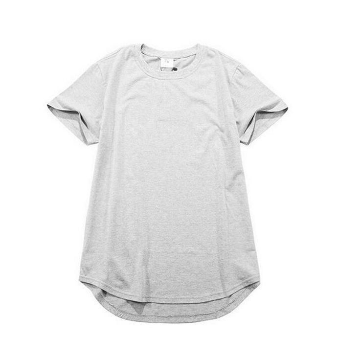 Kanye West Solid Cotton Short Sleeve T shirt Extended Oversize Elongated Hipster Tees Hip Hop Swag Tyga Last Kings Camisetas XXL #Affiliate