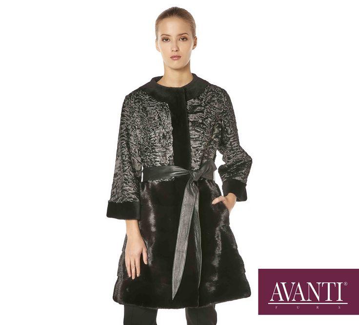 AVANTI FURS - MODEL: MONICA SWAKARA JACKET with Mink, Leather Belt #avantifurs #fur #fashion #fox #luxury #musthave #мех #шуба #стиль #норка #зима #красота #мода #topfurexperts