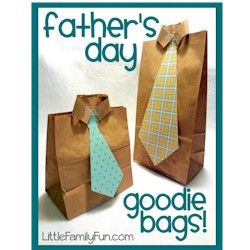 Paper Bag Goodie Bags for Dad