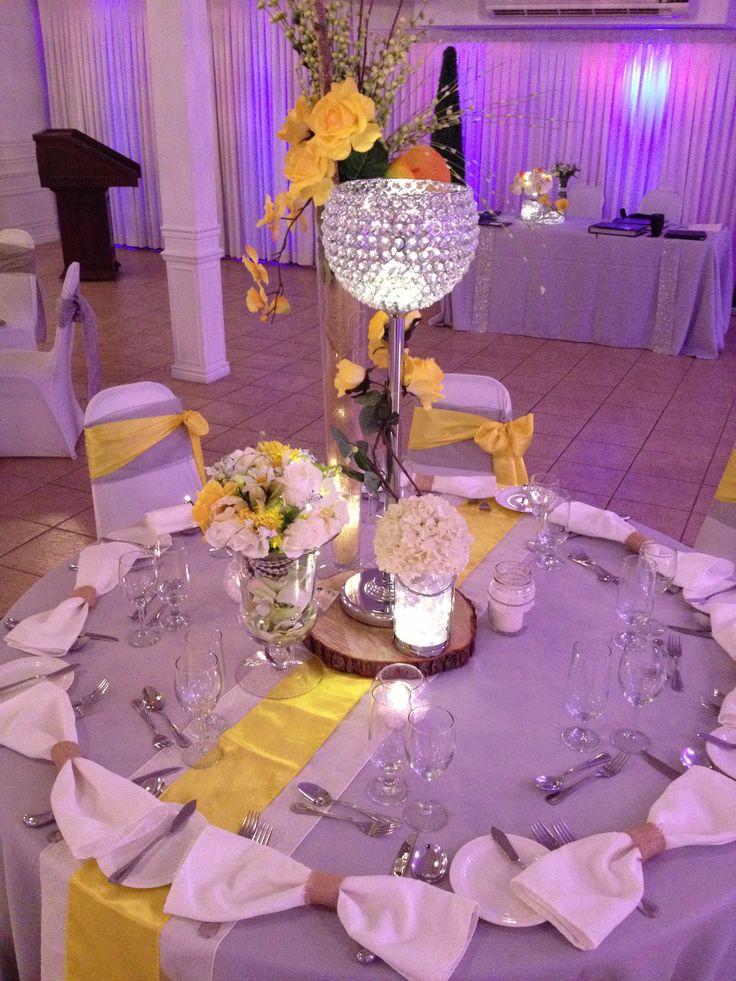Thématique grise, jaune et blanche