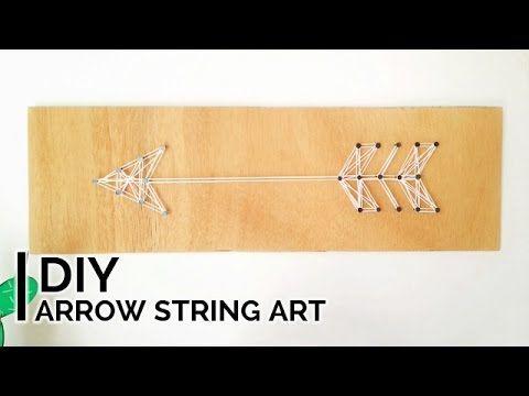 DIY Arrow String Art | Φτιάξε ένα διακοσμητικό βέλος για τον τοίχο - La creme