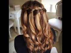 Waterfall Braid How to Video Tutorial by Sweethearts Hair Design