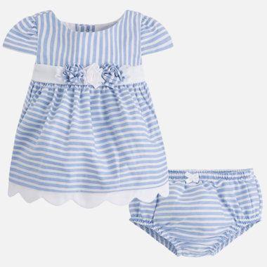 Dievčenské pásikavé šaty s nohavičkami Mayoral - Ocean