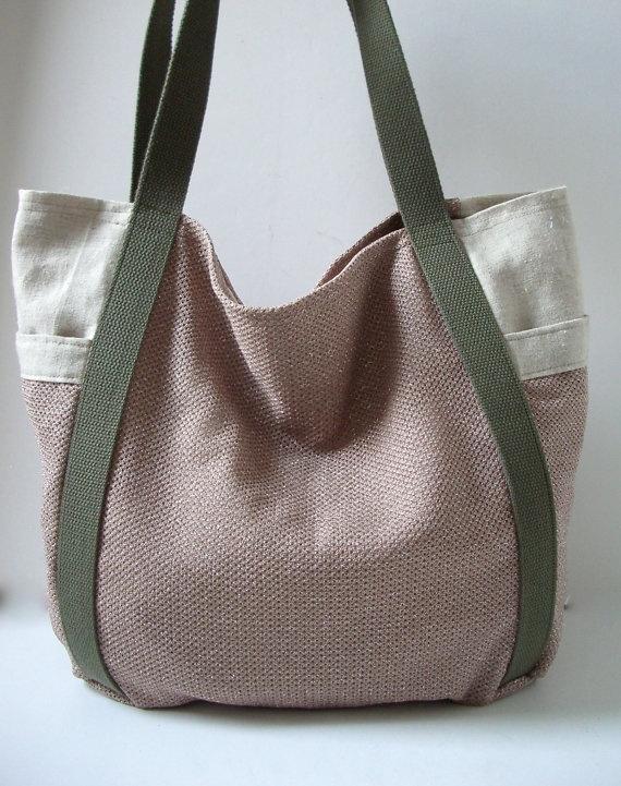 beach bag linen tote bag weekend resort bag neutrals patron inspiration sac main. Black Bedroom Furniture Sets. Home Design Ideas