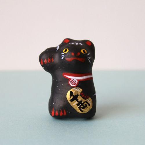 ロードワークス 琉球張子 「黒い招き猫」- dieci|online shop