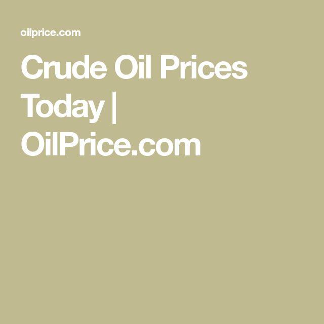 Crude Oil Prices Today | OilPrice.com