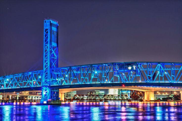 The Main Street Bridge (aka the Blue Bridge) - in downtown Jacksonville, Florida