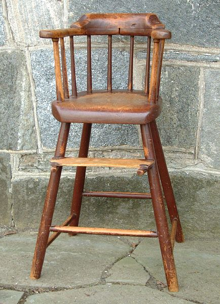 antique highchairs | Antique American Windsor Childs High Chair