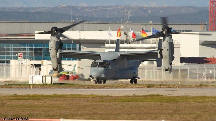 MV-22 Osprey from the US Marine Corps at Marseille airport, France, Feb 2015.
