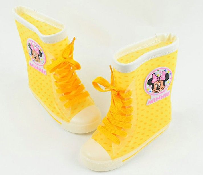 minnie kinderen laarzen meisje regen laarzen lace up kinderen mickey mouse waterdichte meisje schoenen 25.94 dollar