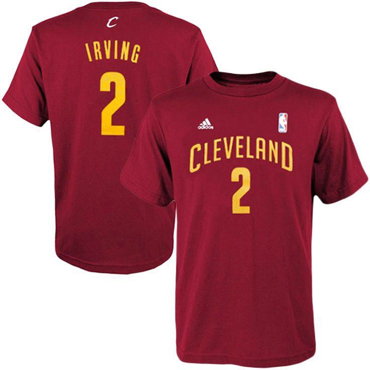 Kyrie Irving Cleveland Cavaliers adidas Youth Game Time Flat Name & Number T-Shirt - Burgundy - $17.59
