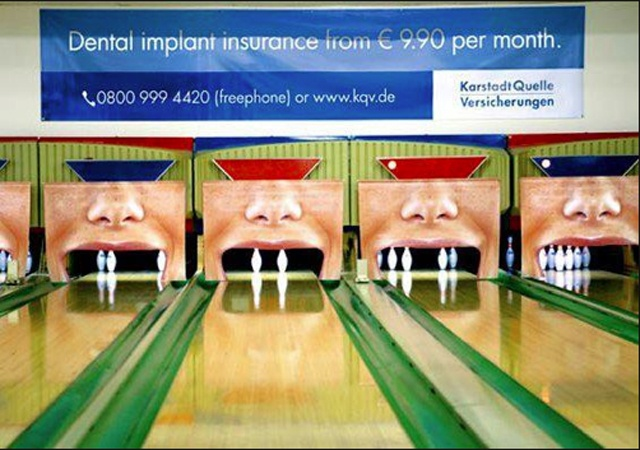 Creative Dental bowling outdoor ad!