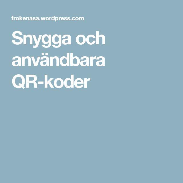 Snygga och användbara QR-koder