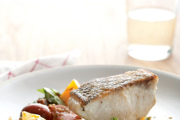 Striped Bass with Heirloom Tomato Scampi / Principle Food Photography ...