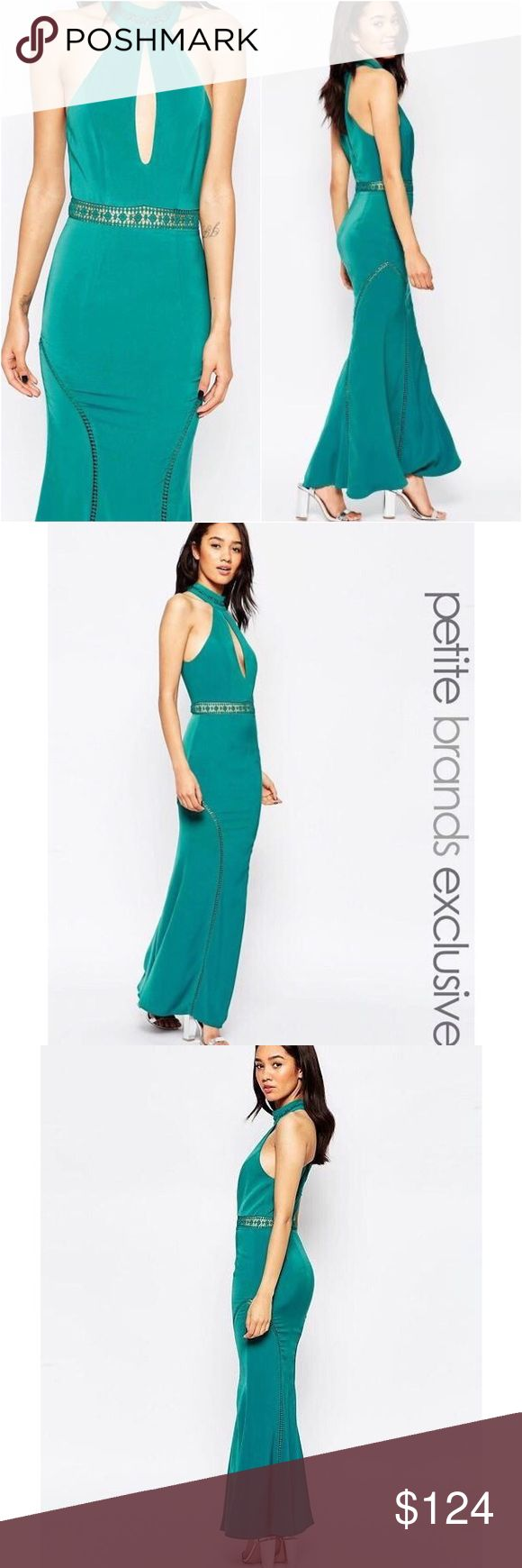 🆕 JARLO by ASOS Mermaid Hem Keyhole Dress 2 Beautiful mermaid hem formal dress by JARLO (ASOS) in mermaid green! Keyhole front. A great pick for prom at a fraction of the cost! New with tags. Size 2. ASOS Dresses Prom
