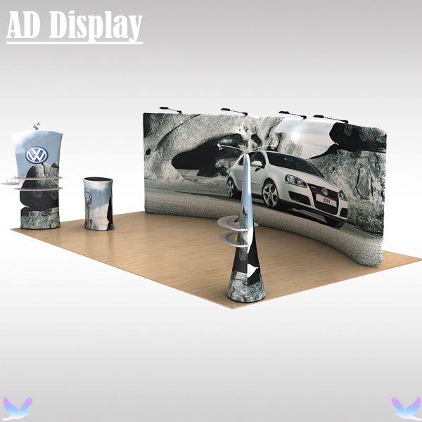 20ft * 10ft Выставок Стенд Рекламы Натяжение Ткани Граница С Графикой, Высокое Качество Портативный Растянуть Баннер Дисплей Выставки