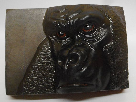 2 Gorilla soaps  Man soap African ape Blokes soap Pair of