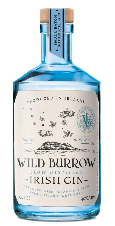 This Gin is enhanced with botanicals from Rabbit Island in west Cork