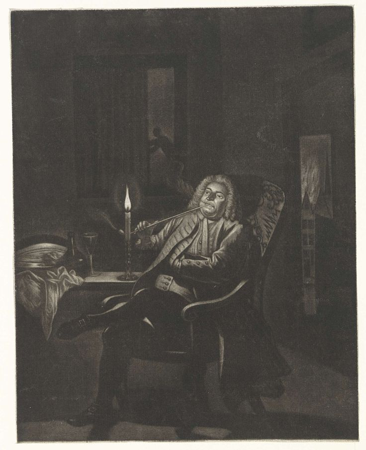Pijprokende man, Pieter Louw, 1743 - 1800